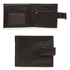 RJR.John Rocha - Brown leather debossed logo wallet in a gift box