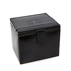 J by Jasper Conran - Black leather watch and cufflink box