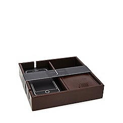 J by Jasper Conran - Brown leather valet tray