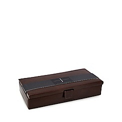 J by Jasper Conran - Brown leather cufflinks box