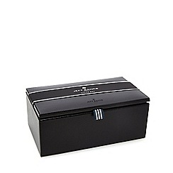 Jeff Banks - Black logo debossed watch box