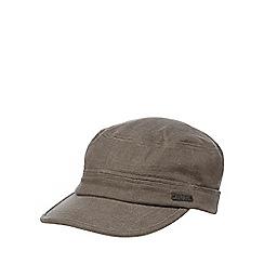RJR.John Rocha - Grey linen traindriver cap