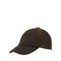 RJR.John Rocha - Dark green waxed baseball cap
