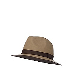 RJR.John Rocha - Brown trilby hat