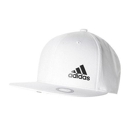 adidas - White textured logo baseball cap
