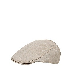 J by Jasper Conran - Natural flat cap with linen