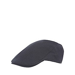 Hammond & Co. by Patrick Grant - Navy herringbone flat cap