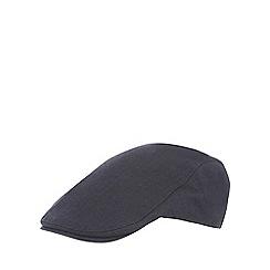 Hammond & Co. by Patrick Grant - Navy herringbone flat cap