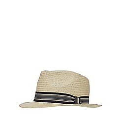 Hammond & Co. by Patrick Grant - Natural straw tie band fedora