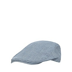 Hammond & Co. by Patrick Grant - Blue linen blend flat cap