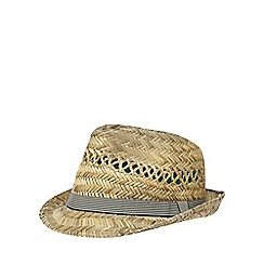 Mantaray - Brimmed straw trilby hat
