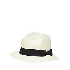 Osborne - White straw trilby hat