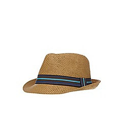 Red Herring - Natural straw trilby hat