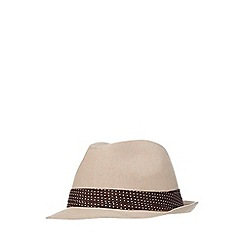 The Collection - Natural canvas trilby hat