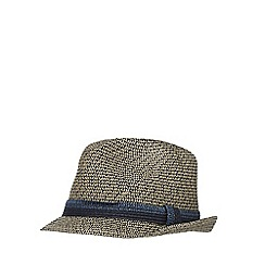 J by Jasper Conran - Navy two tone trilby hat