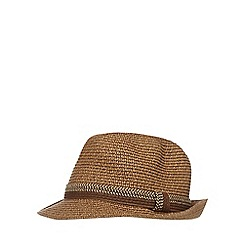 J by Jasper Conran - Brown two tone trilby hat