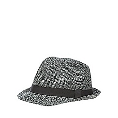 Red Herring - Two tone woven trilby hat