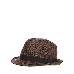 Red Herring - Brown woven trilby hat