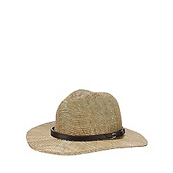 Osborne - Beige seagrass gambler hat
