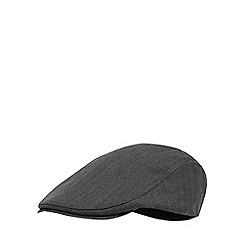 Hammond & Co. by Patrick Grant - Grey herringbone flat cap