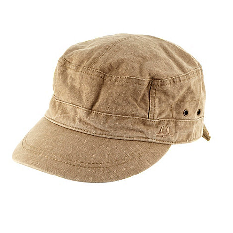 Mantaray - Natural logo embroidered train driver cap