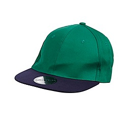 Red Herring - Green contrasting peaked baseball cap