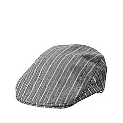 J by Jasper Conran - Grey striped flat cap