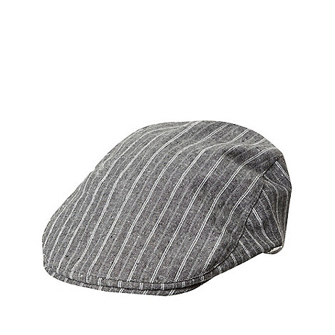 J by Jasper Conran - Grey striped flat cap