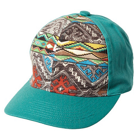 Red Herring - Green aztec printed baseball cap