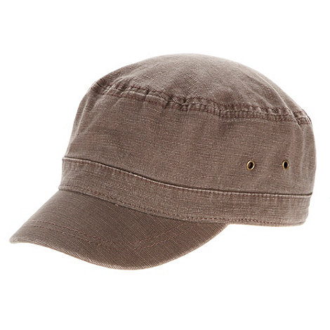 Mantaray - Brown zip pocket train driver hat