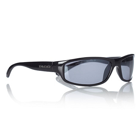 Bloc - Black curved rectangular sports sunglasses