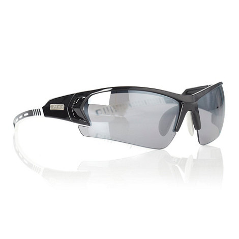 Bloc - Grey tinted striped arm sunglasses