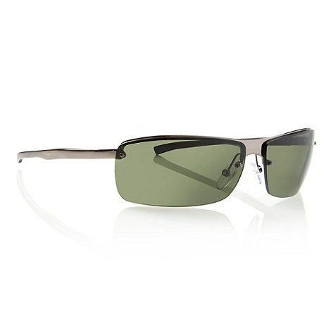 Police - Green rimless rectangular sunglasses