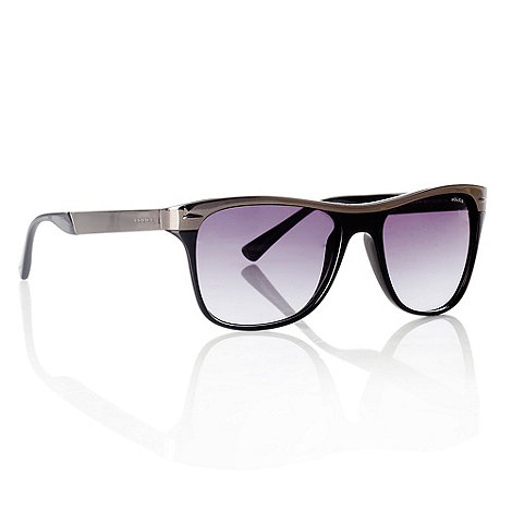 Police - Black metallic bar D-frame sunglasses