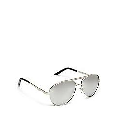 Red Herring - Silver mirrored aviator sunglasses