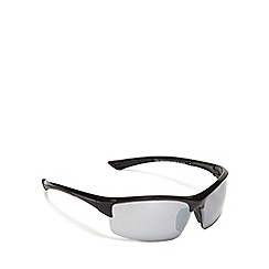 Maine New England - Grey half frame sports wrap sunglasses