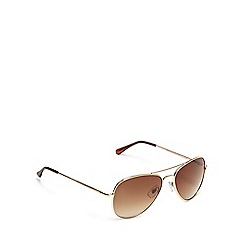 The Collection - Gold aviator sunglasses