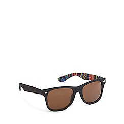 Red Herring - Grey Aztec print frame square sunglasses