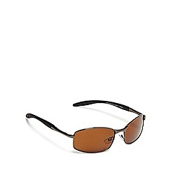 The Collection - Brown rectangle sunglasses