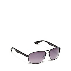 The Collection - Black aviator sunglasses