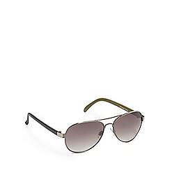 Red Herring - Green tinted aviator sunglasses