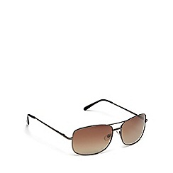 Mantaray - Grey tinted lens polarised aviator sunglasses