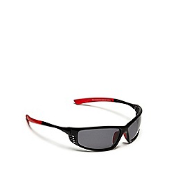 Mantaray - Black polarised sports wrap around sunglasses