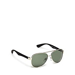 Mantaray - Green polarised tinted lens aviator sunglasses