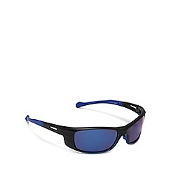 Mantaray - Black rectangle framed blue tinted sunglasses