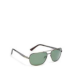 Mantaray - Green polarised aviator sunglasses