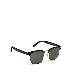 The Collection - Green square retro framed sunglasses
