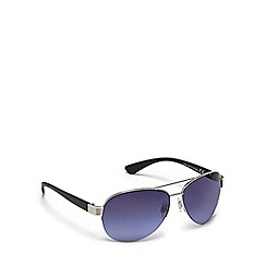 Red Herring - Silver half frame blue tinted aviator sunglasses