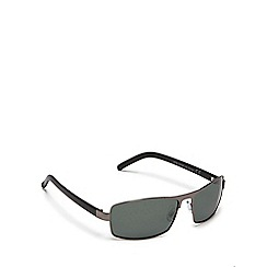 Mantaray - Green rectangle frame polarised sunglasses