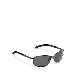 Mantaray - Grey rectangle frame polarised sunglasses